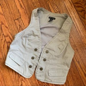 NY&Co Taupe Linen Vest